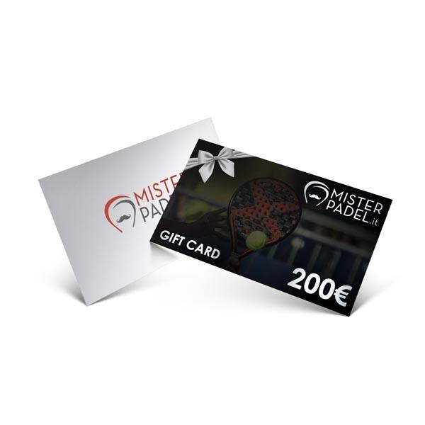 Gift card da 200 € - prodotto Padel
